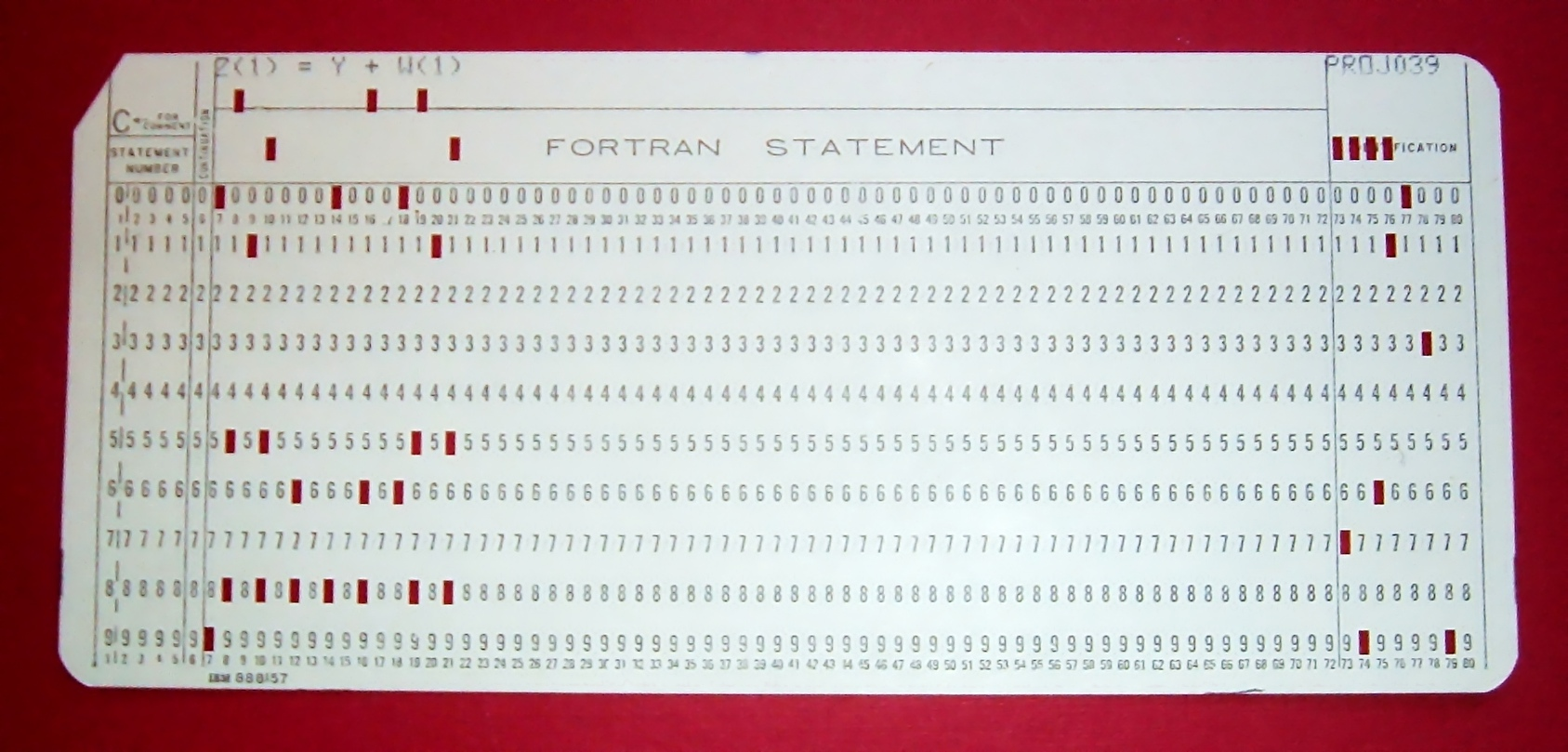 Ponskaart, punchcard voor computers
